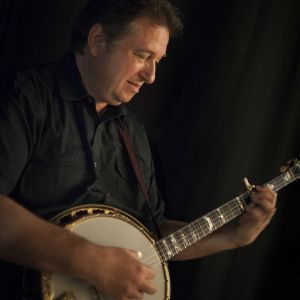 Jens Kruger with banjo; fourth recipient of the Steve Martin Prize for Excellence in Banjo and Bluegrass