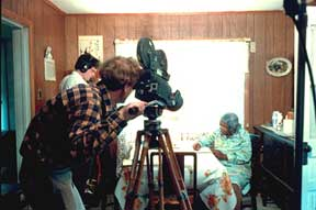 Tom Davenport filming Bertha Landis for A Singing Stream (1986)